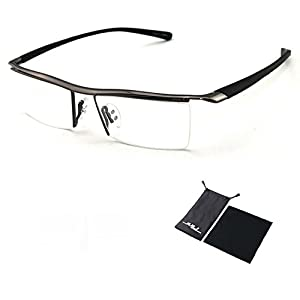 Sports Computer Glasses Readers Reading Video Gaming Glasses of Anti Blue Light Eye Strain Men Tr90 Titanium Myopia Glasses Frame Slip-resistant Eyeglasses 8189