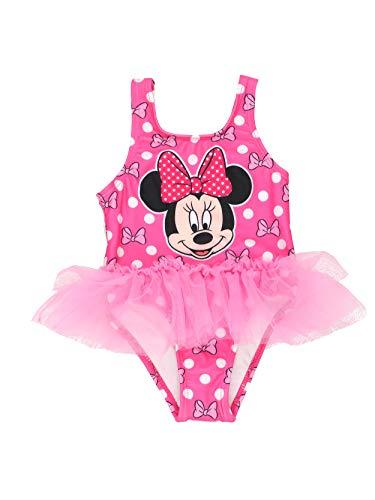 Minnie Mouse Girls Swimwear Swimsuit (3T, Pink) (One Disney Swimsuit Piece)