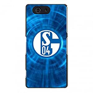 Mixed Colors FC Schalke 04 Logo Phone Funda,FC Schalke 04 Cover Phone Funda,Sony Xperia Z3Mini Phone Funda