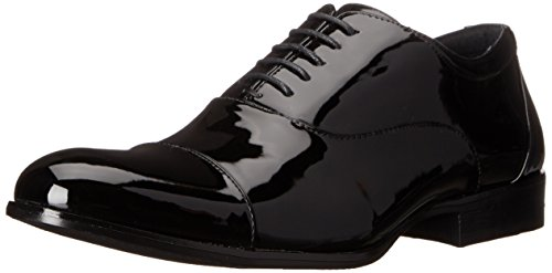 Stacy Adams Men's Gala Tuxedo Oxford, Black Patent, 10.5 W (Gloss Eyelet)