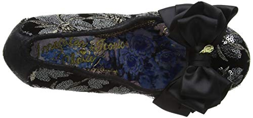 Noir Bout Escarpins Am black Ascot silver Femme Fermé Irregular Choice wvYqgg