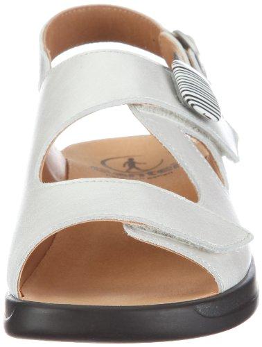 Ganter Monica, Weite G 1-202560-0400 - Sandalias de vestir de cuero para mujer Blanco