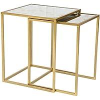 Zuo Zuo Modern Calais Nesting Tables Brass