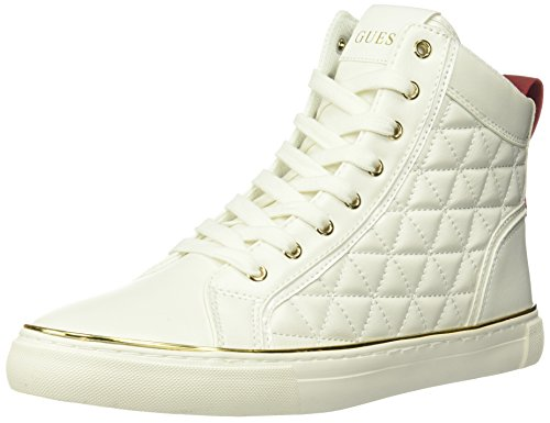(GUESS Men's Melo Quilted High-Top Sneakers)