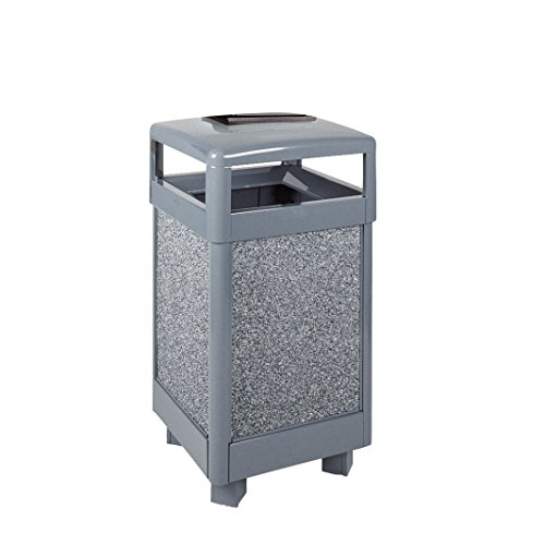Rubbermaid Commercial Products FGR36HTWU2000PL Aspen Series Ash/Trash Refuse Container with Weather Urn (Hinged Top, 29-Gallon)