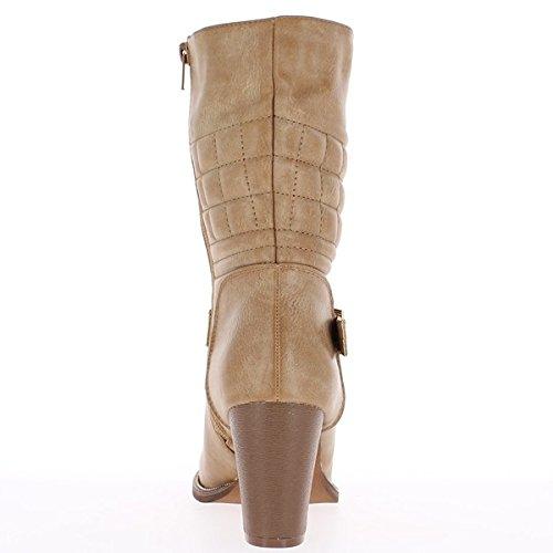 Stiefeletten Schuhe schwarze Frauen auf 3 cm Absatz verdoppelt