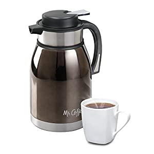 Mr Coffee 108160.01 Colwyn Double Wall Coffee Pot, 2 quart, Charcoal