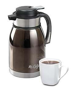 Mr Coffee 108160.01 Colwyn Double Wall Coffee Pot, 2 quart, Charcoal