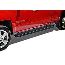 "Matte Black 5"" iBoard Running Boards Fit 07-17 Silverado/Sierra Double Cab Nerf Bar Side Steps Tube Rail Bars Step Board"