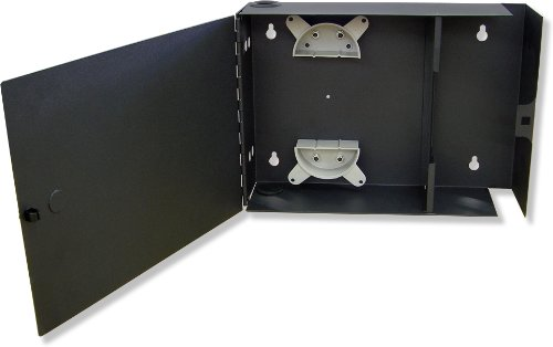 Lynn Electronics Fiber Optic Wall Mount Enclosure Box, holds 2 LGX footprint panels or modules for a maximum capacity of 48 fibers (Module Wall Mount)
