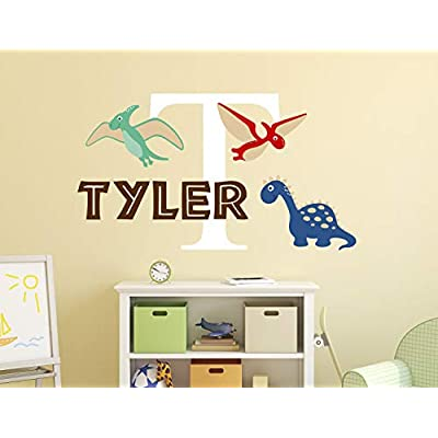 Personalized Name Dinosaurs Wall Decal - Baby Room Decor - Nursery Wall Decals - Dinosaurs Wall Decor Mural Sticker: Industrial & Scientific
