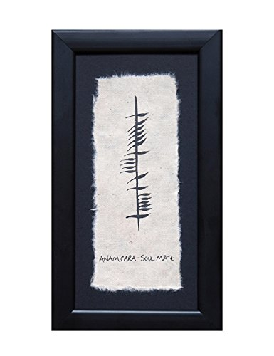 Biddy Murphy Irish Wedding Blessing Wall Decor Soulmate Wall Art Ogham Writing Framed Made in Ireland ()