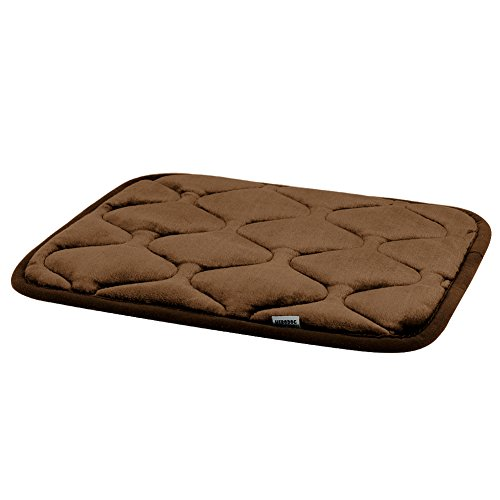 (Hero Dog Small Dog Bed Mat 21 Inch Crate Pad Anti Slip Mattress Washable for Pets Sleeping (Coffee XS))