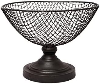 Ideal Gift for Wedding Bridal and Use for Orbs Spa Aromatherapy Reiki Chakra Votive Setting O8 Hosley Wire Mesh Decorative Pedestal Basket Bowl