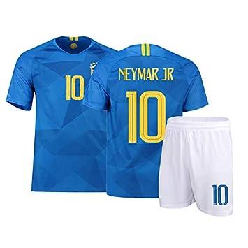 ZHANGYH Camiseta del Equipo de Brasil 2018 Neymar 10, Traje de fútbol, Hombres y