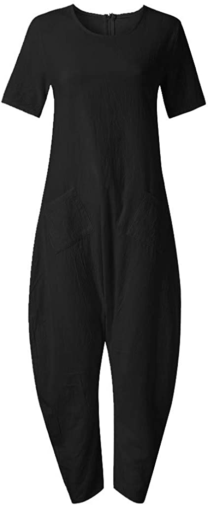 Spbamboo Womens Romper Overalls Casual Playsuits Cotton Low-Profile Jumpsuit