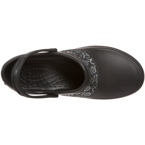 Crocs Mercy Work - Zuecos de goma Nero (Black/Silver)
