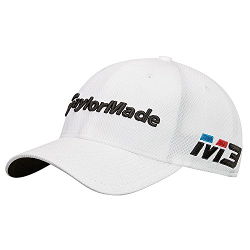 TaylorMade Golf 2018 Men's New Era Tour 39thirty Hat, White, Small/medium
