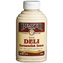 BEAVER Brand Deli Horseradish Sauce, 12-Ounce Squeezable Bottles (Pack of 2)