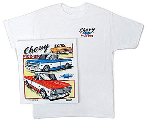Assorted Classic Chevy Pickup Trucks T-Shirt, 2XL White