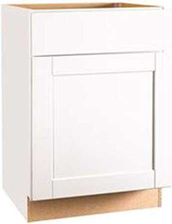 Continental Cabinets Kitchen Cabinets 2487081 Rsi Home Products Andover Shaker Base Cabinet White 24 Amazon Co Uk Diy Tools
