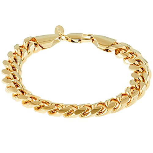 Lifetime Jewelry Cuban Link Bracelet 11MM, Round, 24K Gold Overlay Premium Fashion Jewelry, Guaranteed for Life, 9 Inches by Lifetime Jewelry (Image #8)