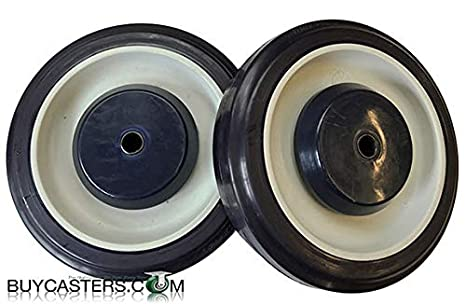 9bac16bbed2d 5 Inch Universal Polyurethane Shopping Cart Wheels Set of 2