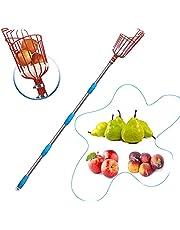 HOSKO 10FT Fruit Picker Tool, Lightweight High-Grade Stainless Steel Adjustable Fruit Picker with Metal Twist-on Basket, Suit for Apple Pear Cherry Mango Guava Orange Avocados Etc Fruit Picking