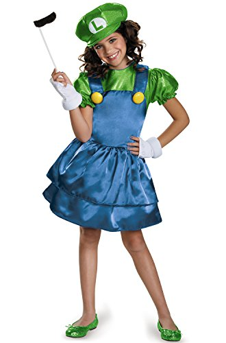 Luigi Skirt Version Costume, Small (4-6x) ()