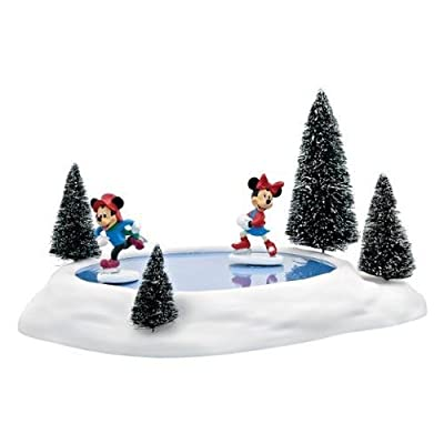 Department 56 Accessories for Villages Mickey and Minnies Animated Pond Accessory Figurine