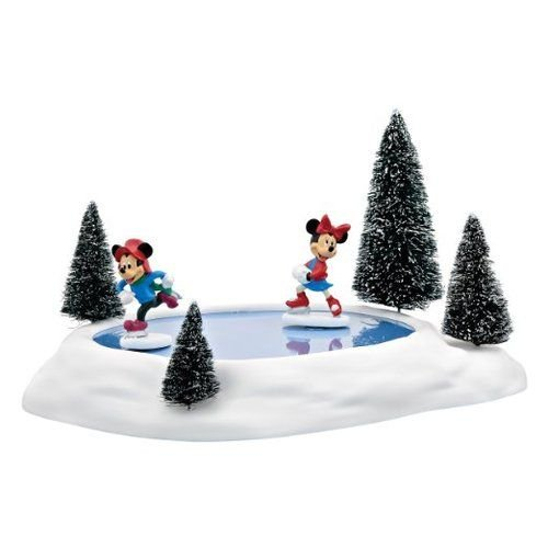 Animated Figurine (Department 56 Accessories for Villages Mickey and Minnies Animated Pond Accessory Figurine)
