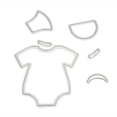 Whitelotous Cutting Dies Cut Dies Stencil Metal Template Mould for DIY Scrapbook Album Paper Card (Baby Cloth)