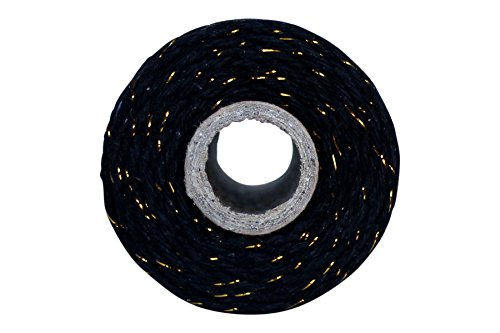 Thick 12 Ply 100 Yard Bakers Twine (Black with Gold)