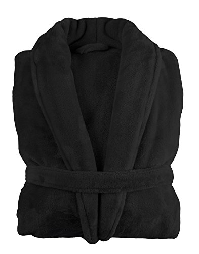 Lovely Casa xc5792005s Doudou albornoz algodón negro 42x 42cm