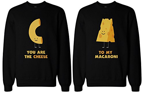 365 In Love Matching BFF Sweatshirts for Best Friends - You'RE The Cheese to My Macaroni (Left- M/Right- M)