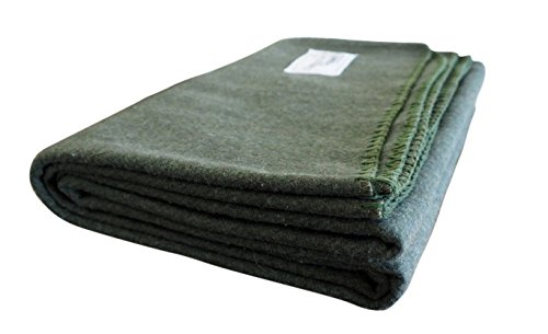Woolly Mammoth Woolen Company Explorer Collection Wool Blanket (Hunter ()