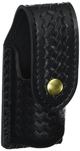 (Safariland Duty Gear MK3 Brass Snap OC Pepper Spray Holder (Basketweave Black))