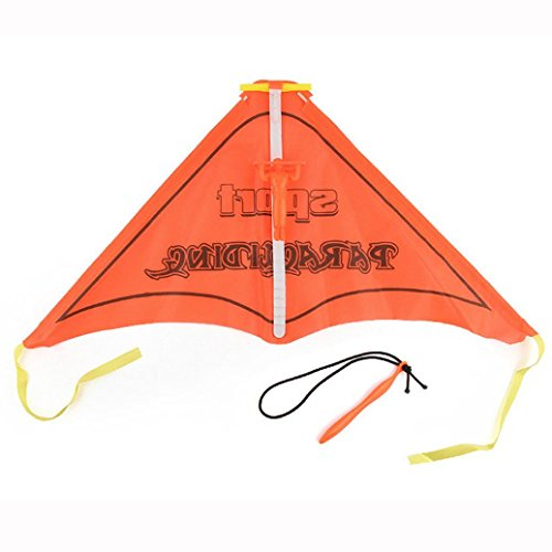 KingWo Educational Toys-Toys For Children- Kids Paragliding Flying Hang Glider Set Launch catapult Slingshot Outdoor Toy (Orange)