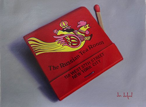 Russian Tea Room Limited Edition Giclee of Oil Painting of Matchbook of Iconic New York City Restaurant by Jim Jackson