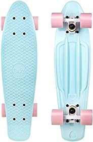 Cal 7 Mini Cruiser Skateboard Complete 22 Inch Standard Retro Style Plastic Board