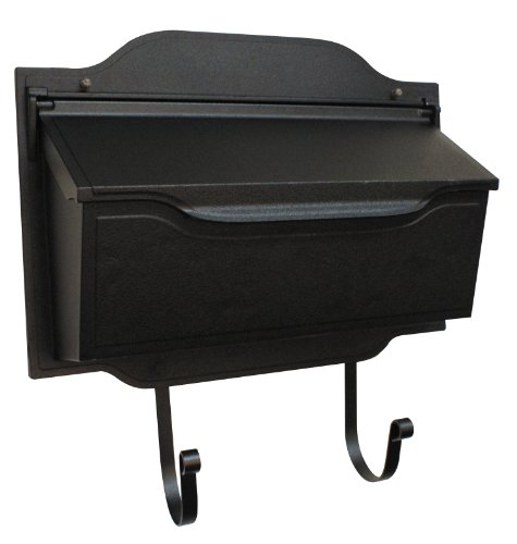 Mailbox Blk Wall (Special Lite Products SHC-1002-BLK Contemporary Horizontal Mailbox, Black)