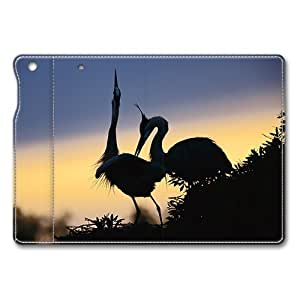 iPad Air Case,Couple In Dawn Sweet Animal Pair Premium Leather Folio Stand Flip Cover Case for iPad Air, Original Design And Made By PhilipHayes