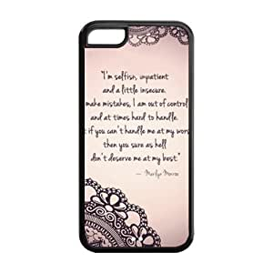 CSKFUCustomize Marilyn Monroe Quotes TPU Case for iphone 6 4.7 inch iphone 6 4.7 inch