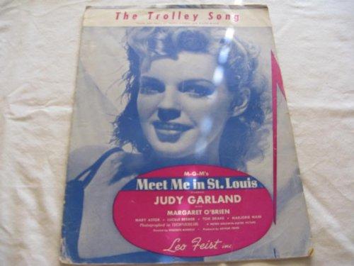 THE TROLLEY SONG JUDY GARLAND 1944 SHEET MUSIC FOLDER 435 SHEET MUSIC ()