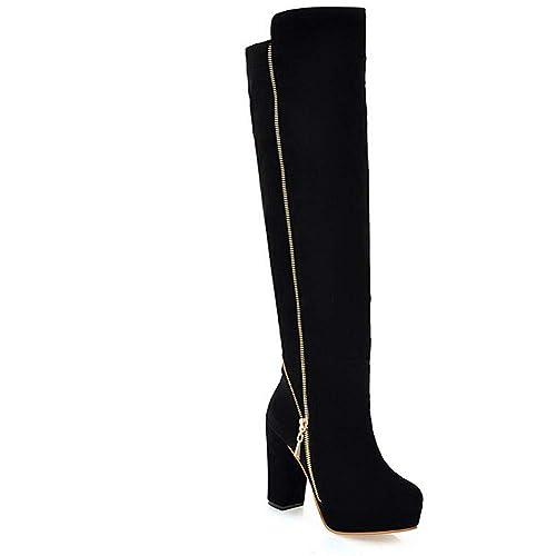 a2de50199fff1 Otoño Invierno Botas con Cordones de Plataforma Martin Alto Grado Botines  Mujer Moda 2018 Zapatos de tacón Grueso para Mujer Botines de Nieve Warm  Piel ...