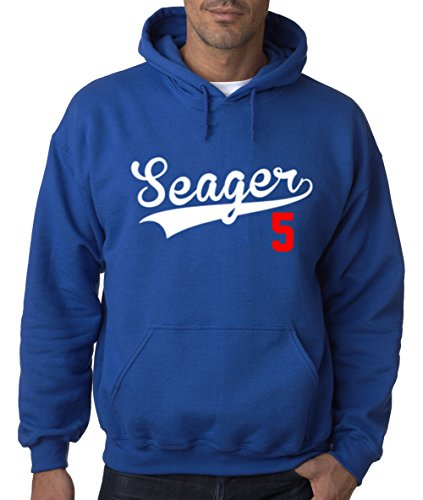 The Silo Blue Los Angeles  Seager 5  Hooded Sweatshirt Adult