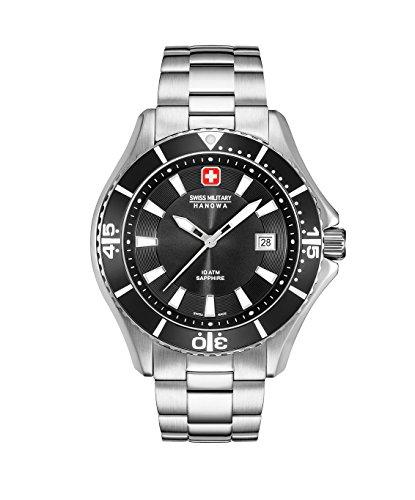 (Swiss Military Hanowa Mens Analogue Quartz Watch with Stainless Steel Strap 06-5296.04.007 )