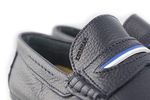 46 Zapatos Hombre 50 Náuticos Hombre para Mocasines Hombre Náuticos Marino Piel Verano Náuticos Zerimar Tallas Grandes Hombre de Azul Rq78axZ