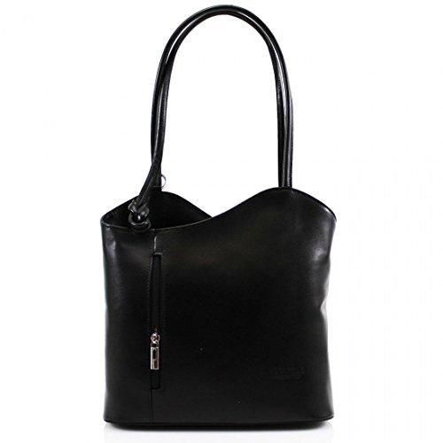 femme Vera Pelle portés Noir Sacs dos Sw0Rq71