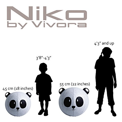 Vivora Niko Sitting Ball for Adults, Yoga, Stability, and Pump and Handle, Base Ring Needed